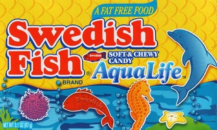 Sissy fits take us to the candy shop for Swedish fish aqua life