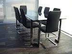 Artículo Destacado- Mesa y sillas en acero inoxidable
