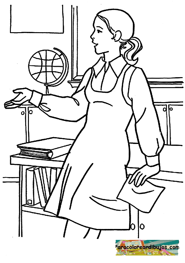 Professor Coloring Pages