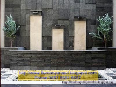 Tukang Taman Surabaya waterwal minimalis modern