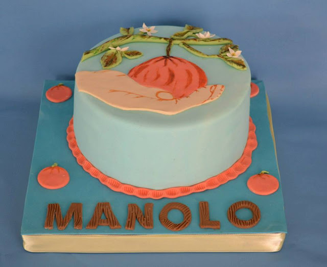 cullidor de naranja, fondant, campo, naranjero, mano, paisaje sugar dreams gandia tarta, almacen de naranjas y frutas