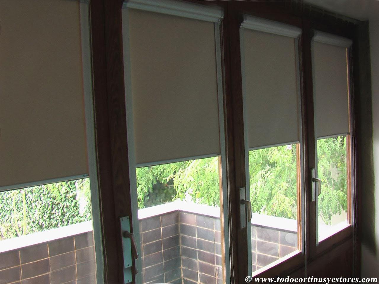 Decoracion interior cortinas verticales estores enrollables puertas plegables toldos - Estores opacos ...