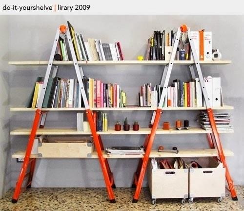 Mieszkać Pięknie: Loftowy regał na książki 500 x 432