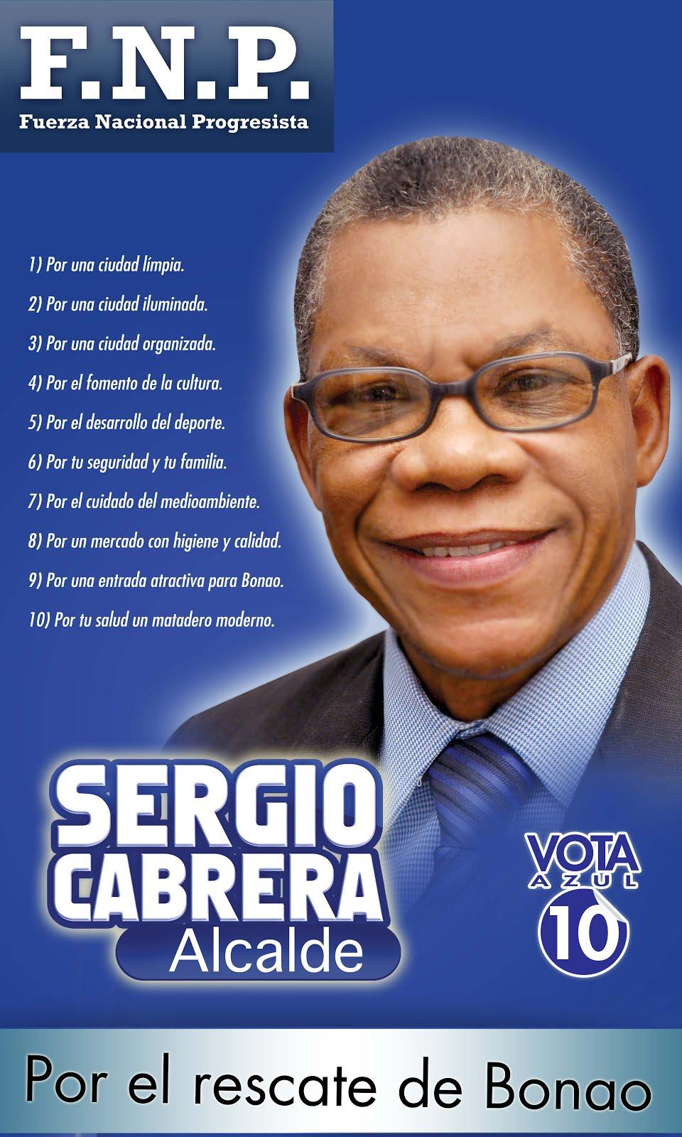 SERGIO CABRERA SINDICO PARA BONAO POR LA FNP