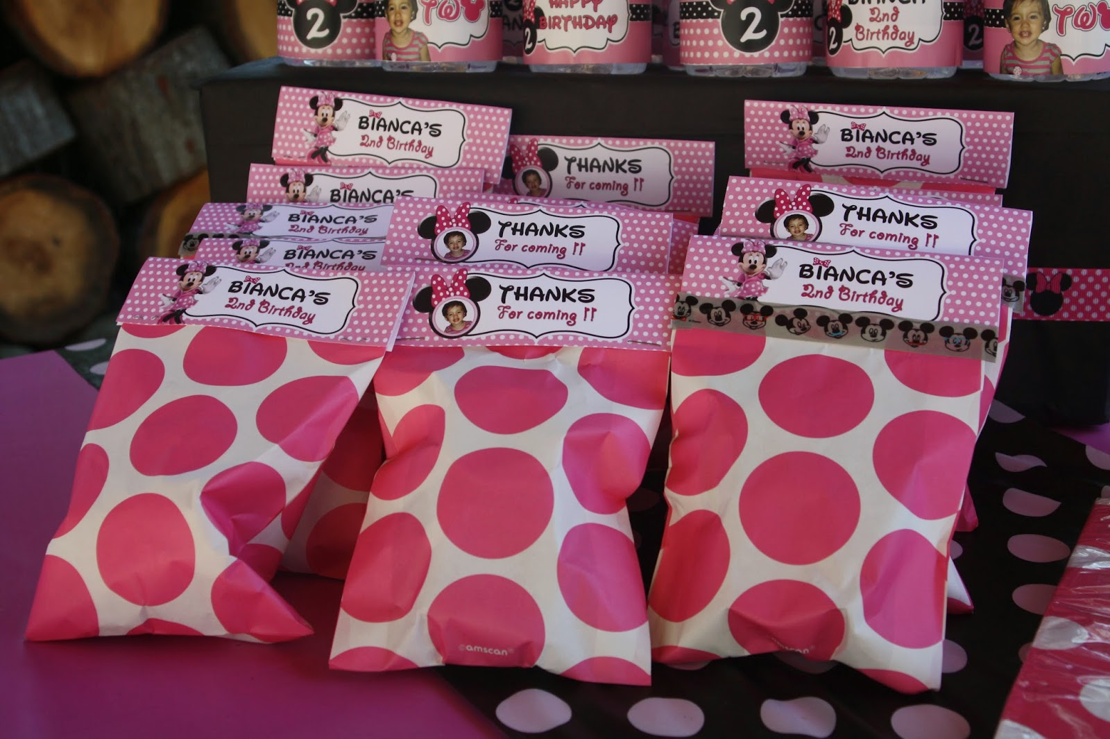 MaMa Tinas Style: Etiquetas Minnie Mouse Rosa