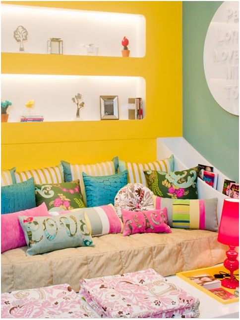 Colorful and joyful bedroom for teenage girl bedroom decorating ideas - Colorful teen bedroom designs ...
