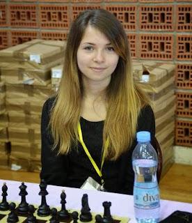 Andreea-Cristiana Navrotescu au championnat du monde d'échecs jeunes - Photo © FFE