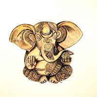 Ganesha paintings by Indian Contemporary Artists, Art Scene India