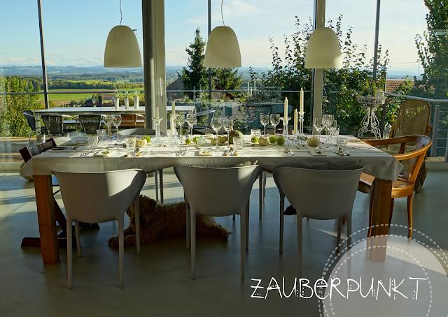 Tablesetting, Herbst, Kürbis, Gäste, Tischdekoration