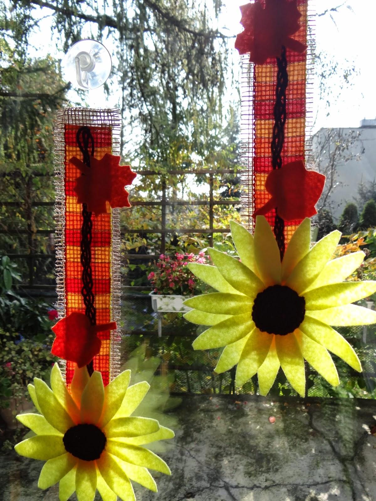 jesienne dekoracje na okno
