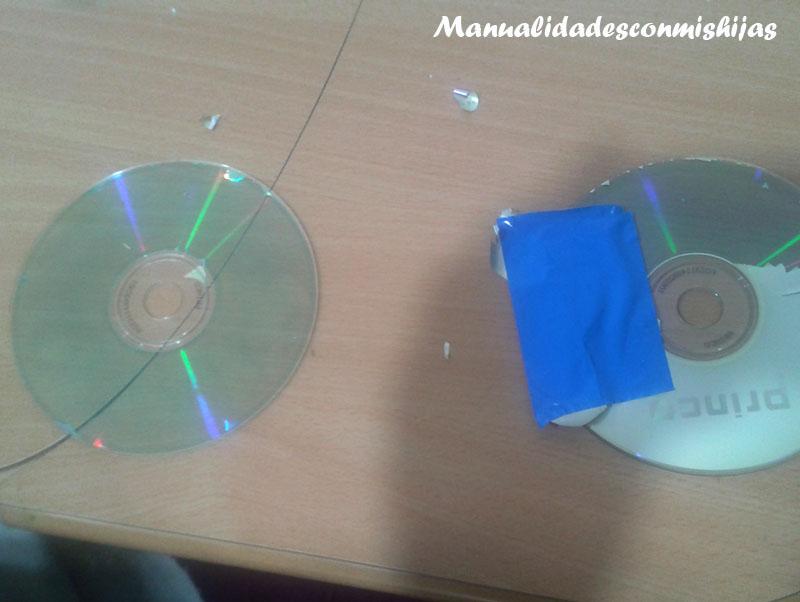 Manualidades con mis hijas: #Retofacilisimo: Hacer teselas con CDs