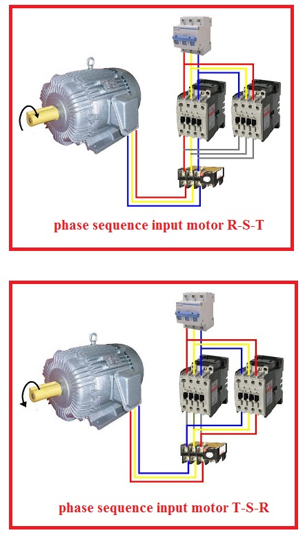 Forward reverse three phase motor wiring diagram elec for 3 phase motor to single phase