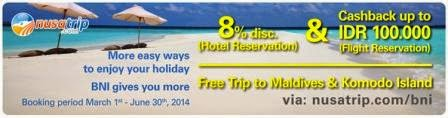 Promo Travel | Tour & Travel Agent terbaru di NUSATRIP.COM [ Berlaku 01 Mar 2014 s/d 30 Jun 2014 ]