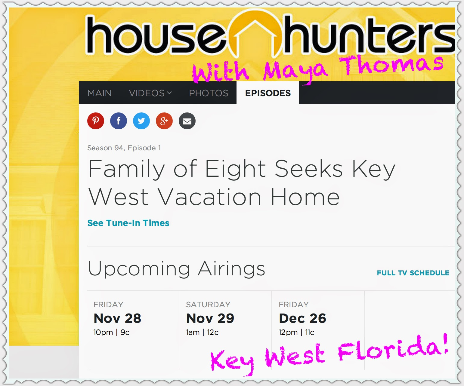 Hgtv schedule free you basically know the schedule of the for Hgtv schedule house hunters