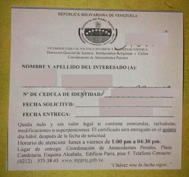 Decid emigrar certificaci n de antecedentes penales for Ministerio de relaciones interiores