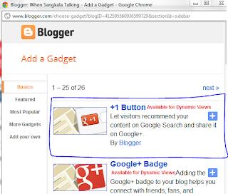 Cara Membuat/Memasang Tombol +1 Google