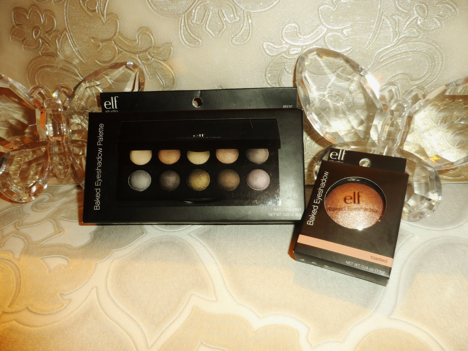 ELF baked eyeshadow bronzed smokey eye