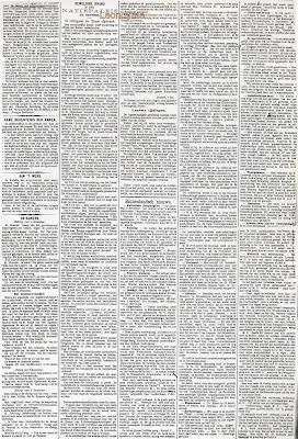 Artikel over de brand van het Brussels Natiepaleis verschenen in de Gazette van Brugge van 8 december 1883
