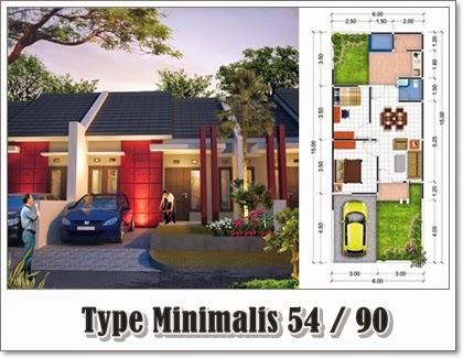 Desain Denah Rumah Minimalis Type 54 Harga Terbaru 2014 Desain