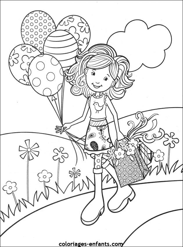 Contoh gambar hitam putih untuk di warnai- ulang tahun