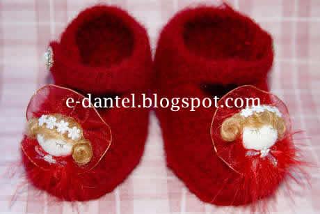 Çizme Şeklinde Bebek Patik Modeli