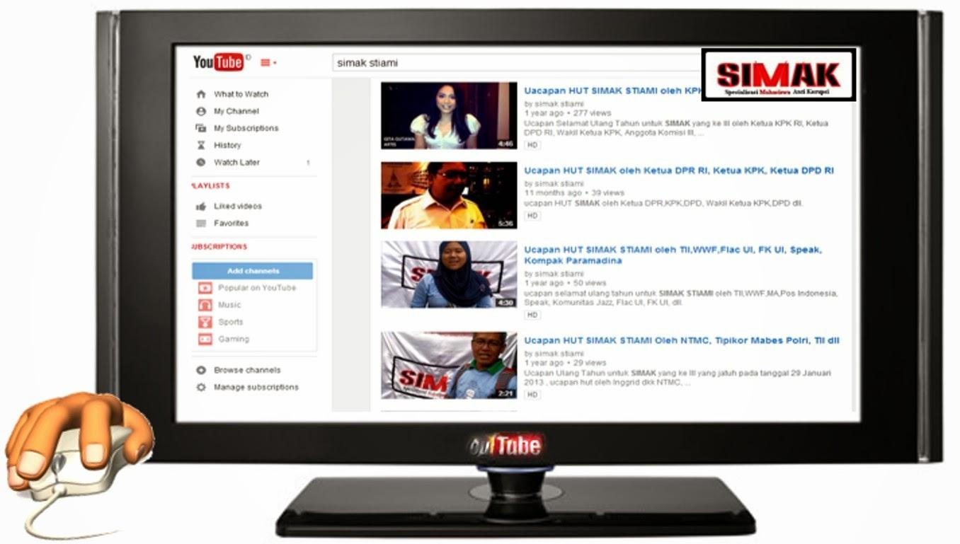 SIMAK On Youtube klik