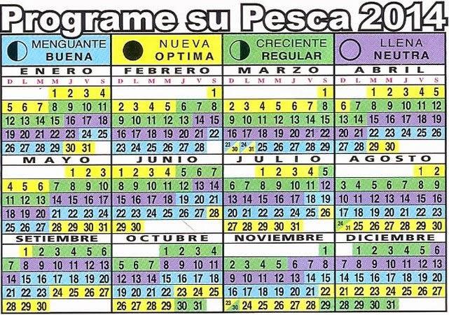 Calendario Lunar Para La Pesca 2016 | newhairstylesformen2014.com
