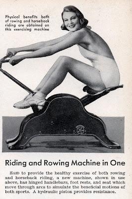 Old fashioned exercise machine belt 77