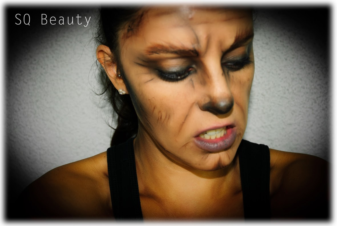 Maquillaje Halloween Hombre Lobo wolf makeup, Silvia Quiros