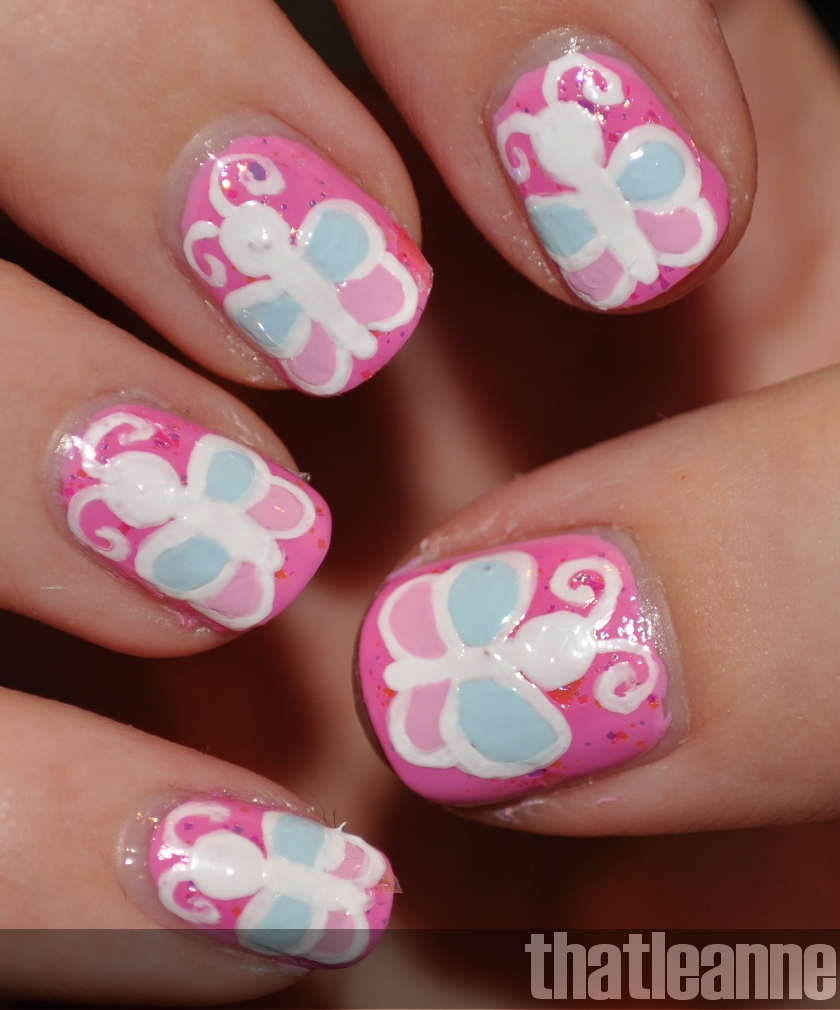 Thatleanne Chococat Nail Art: Thatleanne: Butterfly Nail Art And The Butterfly Award