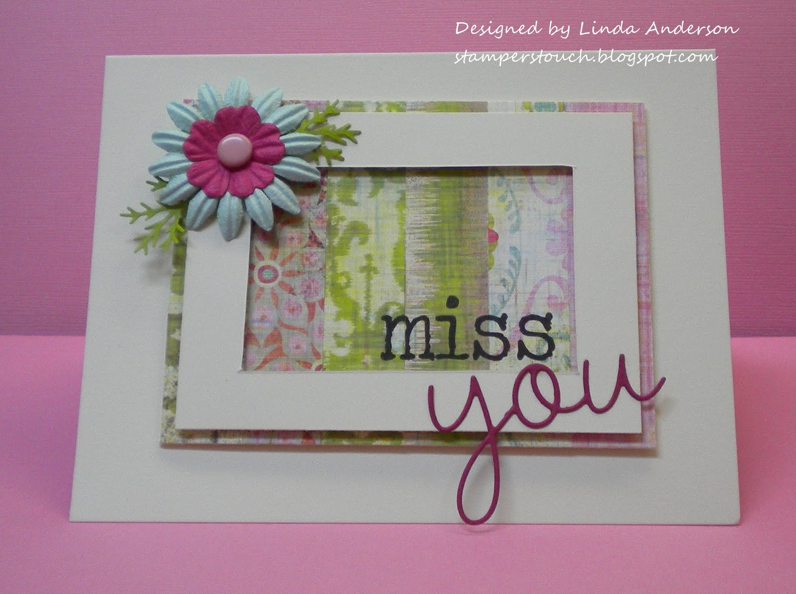 The stampers touch owh i miss you challenge i was asked by jan hunnicutt to make samples for this weeks wednesday throwdown challenge at operation write home owh ships handmade cards to our kristyandbryce Image collections