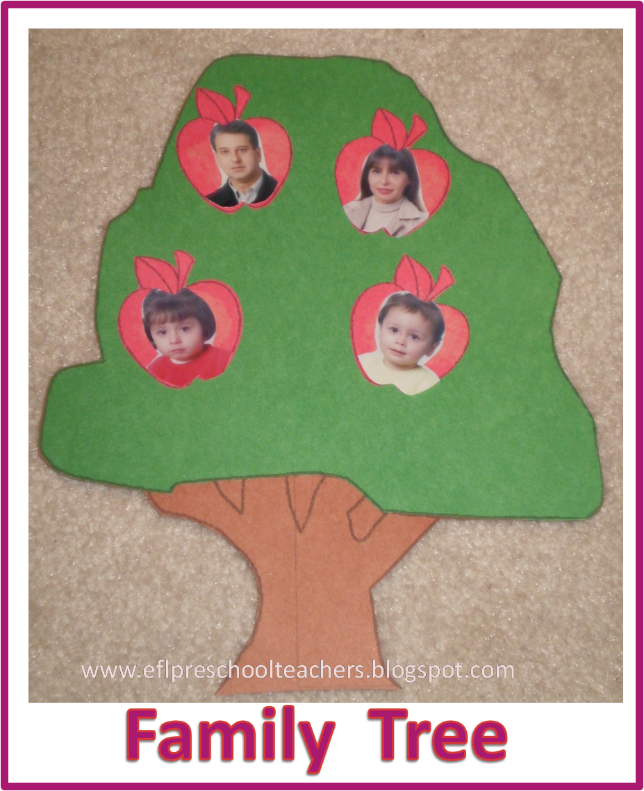 made a traditional family tree. Got the templates at http://www.dltk ...