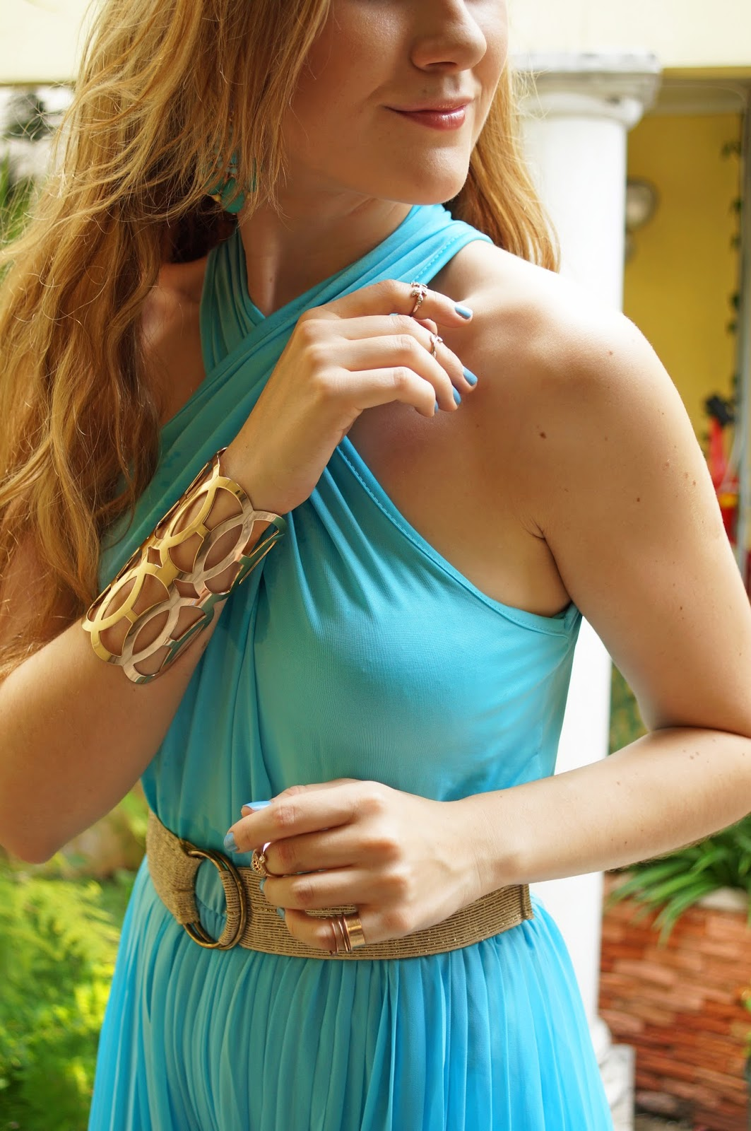 A Bold Cuff Bracelet adds pizazz to a simple outfit