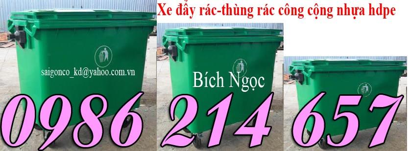 xe đẩy rác nhựa hdpe