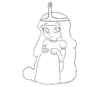 #11 Princess Bubblegum Coloring Page