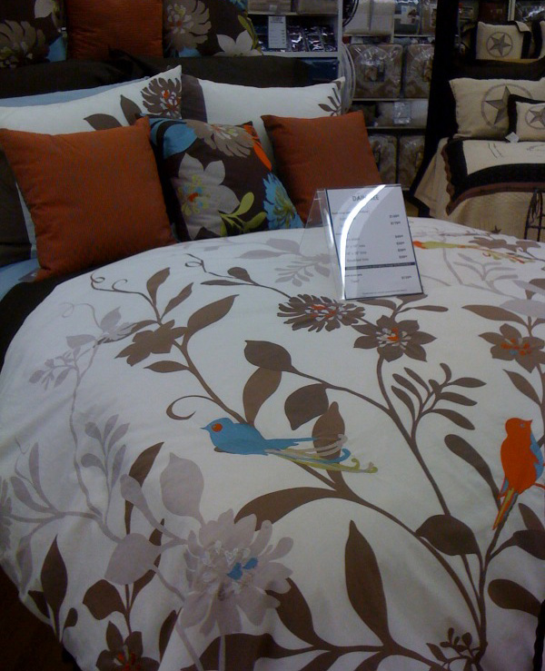 both of these bedding sets I spotted at Bed Bath and Beyond. Where was ...