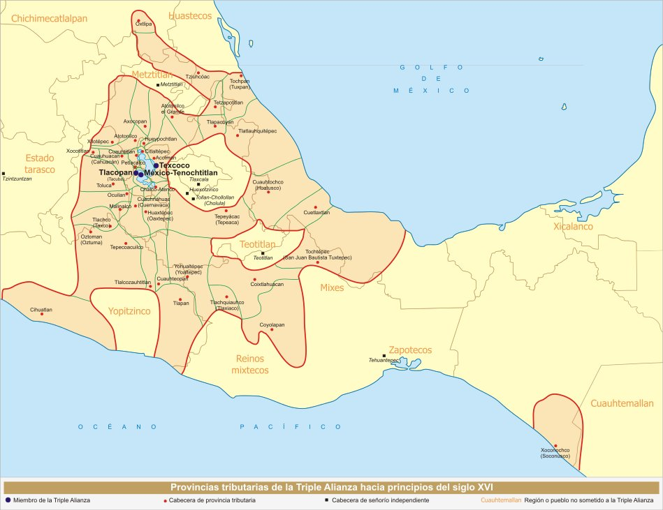 Aztec Region Map – Aztec Mexico Map