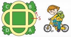 ответ на задачу Кенгуру по математике для 3 и 4 класса на движение велосипедиста по парку