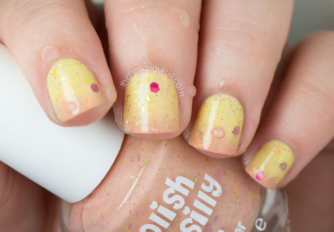 Polish Me Silly Sizzling Sunset gradient swatch // The Nailasaurus