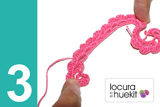 3. Paso a paso flor crochet en relieve