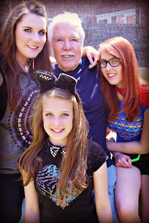 Grandad with the Girls