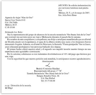 Ejemplos De Cartas En Espanol