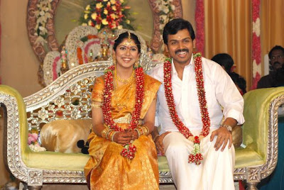 Actor Karthi and Ranjani wedding stills