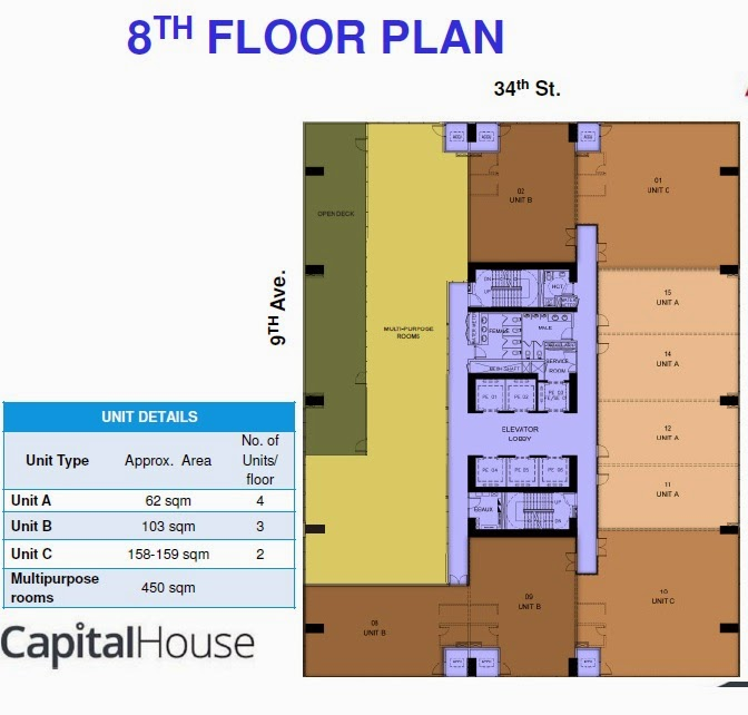 8th/F Plan of Capital House New Office Building in Bonifacio Global City