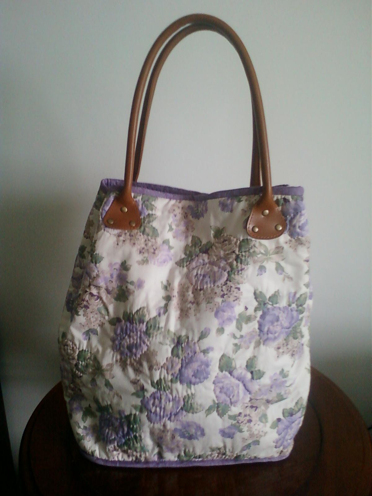 Bolsa De Tecido Quiltada : Arteandoporaqui bolsa de tecido em patchwork
