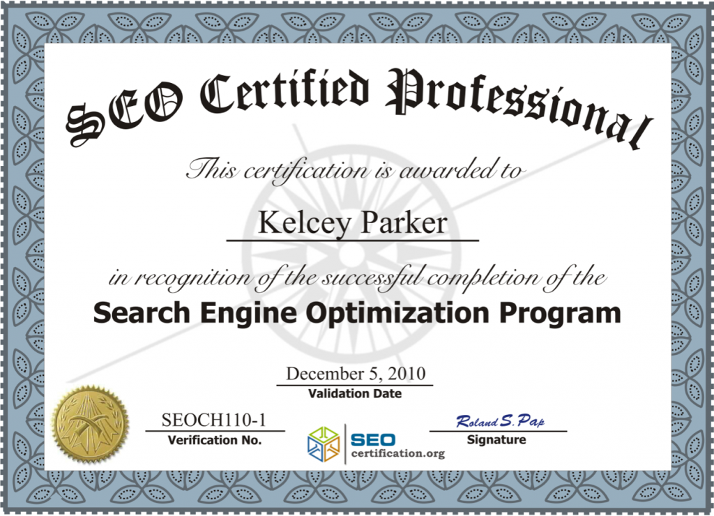 Professional Certification - Certified Professional
