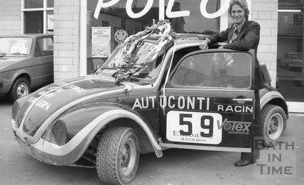 John Button and Fizzer, the Beetle in which he finished runner-up in both the Embassy/RAC-MSA British Rallycross and TEAC/Lydden Rallycross championships in 1976