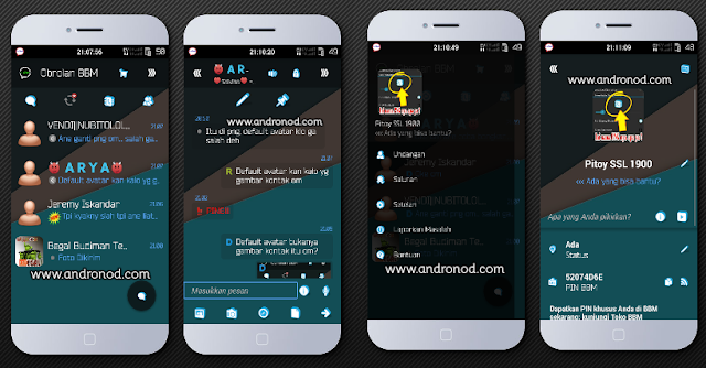 BBM Mod I-Chat Material Transparan v2.9.0.45 Apk