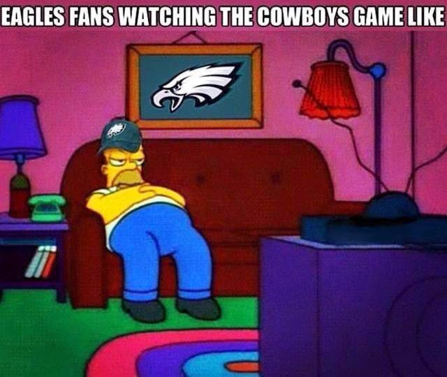 eagles fans watching the cowboys game like