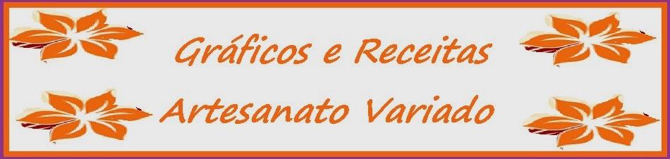 Gráficos e Receitas - Ponto Cruz, Vagonite, Macramé, Crochê, Tear de Tricô, Tricô